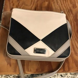 Nine West cross body bag beige and black